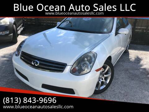 2006 Infiniti G35 for sale at Blue Ocean Auto Sales LLC in Tampa FL