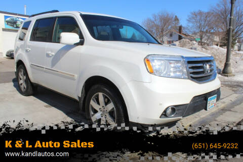 2015 Honda Pilot for sale at K & L Auto Sales in Saint Paul MN