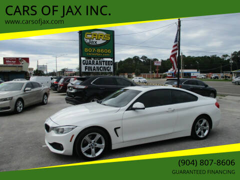 2014 BMW 4 Series for sale at CARS OF JAX INC. in Jacksonville FL