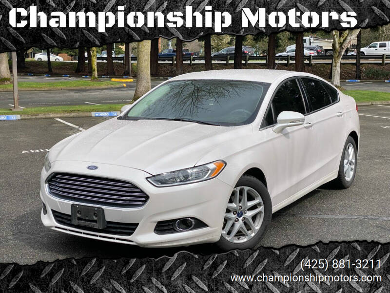 2016 Ford Fusion for sale at Championship Motors in Redmond WA