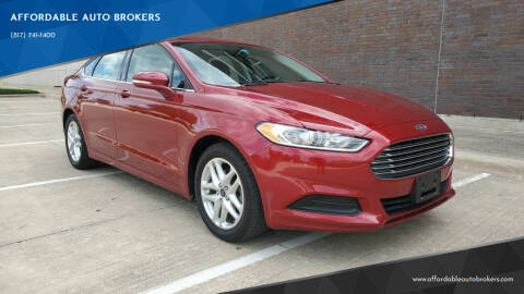 2014 Ford Fusion for sale at AFFORDABLE AUTO BROKERS in Keller TX
