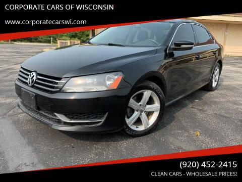 2014 Volkswagen Passat for sale at CORPORATE CARS OF WISCONSIN in Sheboygan WI