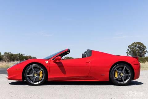 2013 Ferrari 458 Spider for sale at 415 Motorsports in San Rafael CA
