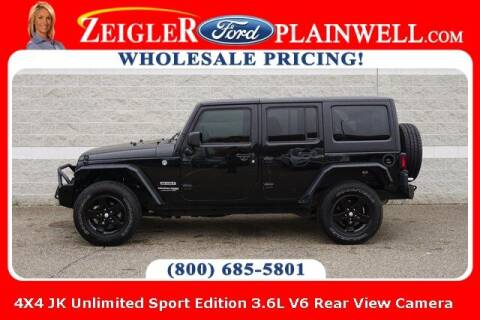 2018 Jeep Wrangler JK Unlimited for sale at Zeigler Ford of Plainwell- Jeff Bishop in Plainwell MI