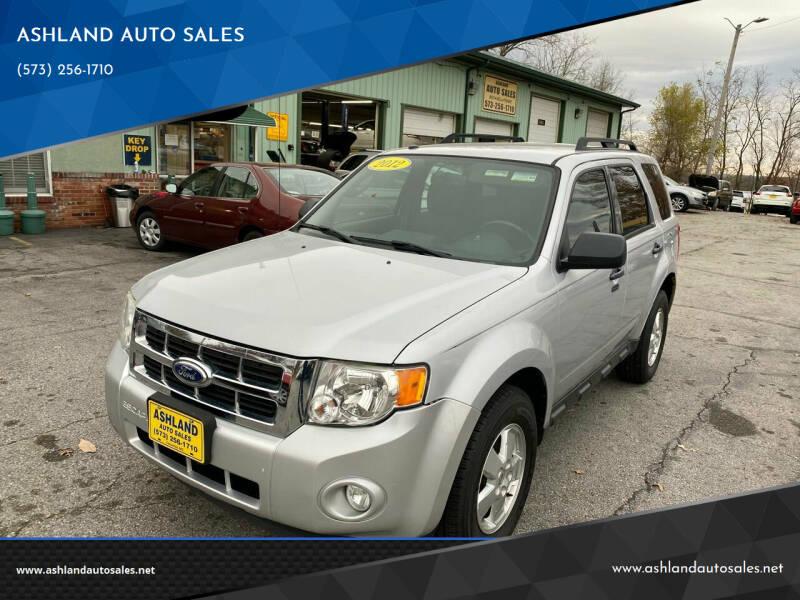 2012 Ford Escape for sale at ASHLAND AUTO SALES in Columbia MO
