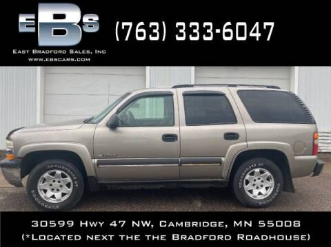 2003 Chevrolet Tahoe for sale at East Bradford Sales, Inc in Cambridge MN