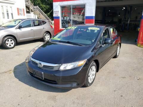 2012 Honda Civic for sale at TC Auto Repair and Sales Inc in Abington MA