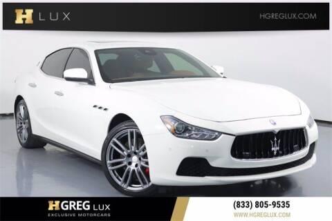 2017 Maserati Ghibli for sale at HGREG LUX EXCLUSIVE MOTORCARS in Pompano Beach FL