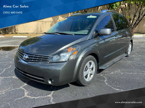 2008 Nissan Quest for sale at Alma Car Sales in Miami FL