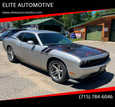 2014 Dodge Challenger for sale at ELITE AUTOMOTIVE in Crandon WI