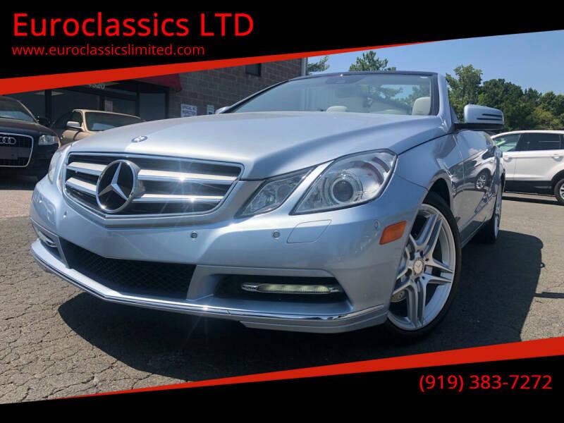 2013 Mercedes-Benz E-Class for sale at Euroclassics LTD in Durham NC
