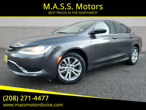 2015 Chrysler 200 for sale at M.A.S.S. Motors in Boise ID