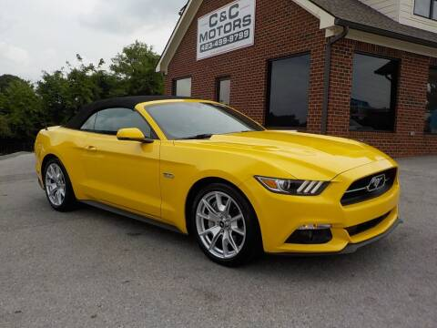 2015 Ford Mustang for sale at C & C MOTORS in Chattanooga TN