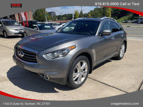 2012 Infiniti FX35 for sale at CRAIGE MOTOR CO in Durham NC