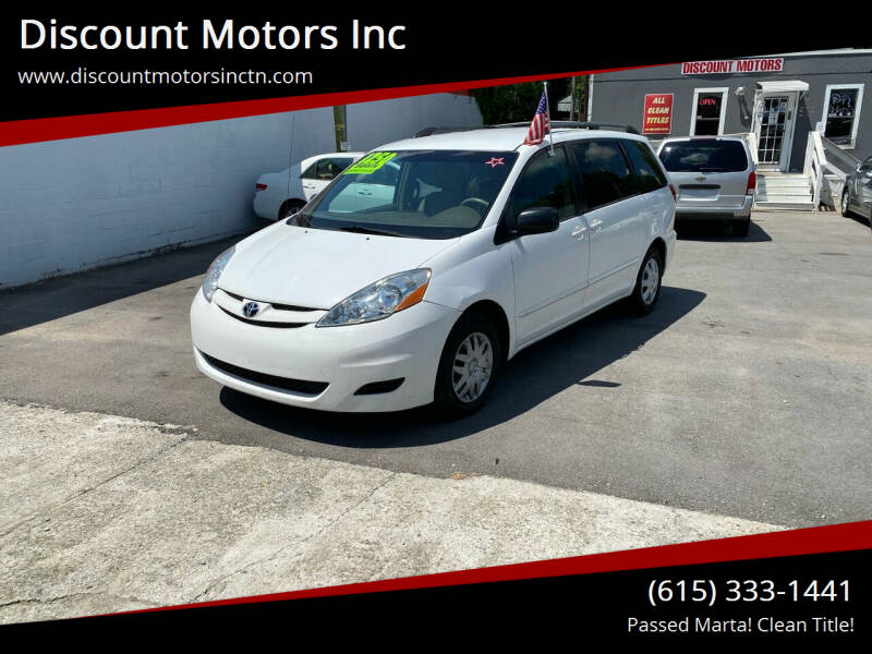 2007 Toyota Sienna for sale at Discount Motors Inc in Nashville TN