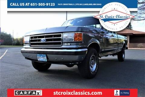 1990 Ford F-150 for sale at St. Croix Classics in Lakeland MN