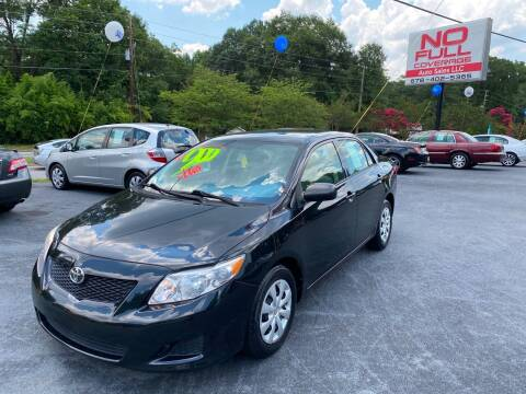 2009 Toyota Corolla for sale at No Full Coverage Auto Sales in Austell GA