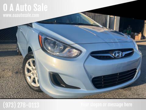 2013 Hyundai Accent for sale at O A Auto Sale in Paterson NJ