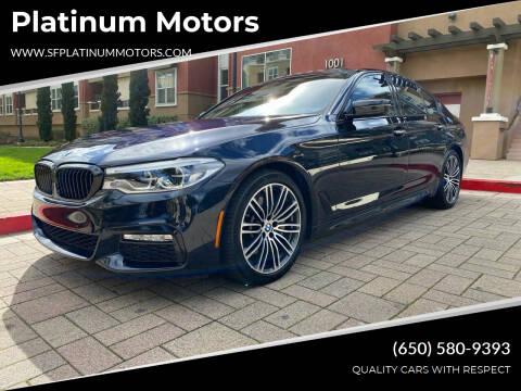 2018 BMW 5 Series for sale at Platinum Motors in San Bruno CA