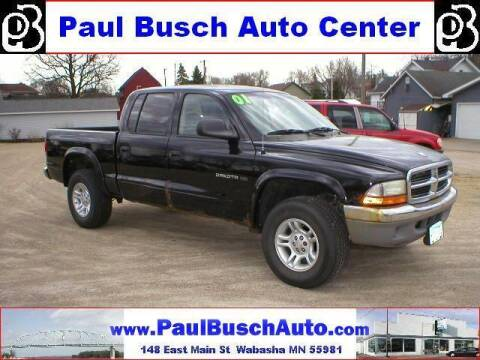 2001 Dodge Dakota for sale at Paul Busch Auto Center Inc in Wabasha MN