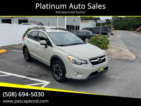 2013 Subaru XV Crosstrek for sale at Platinum Auto Sales in South Yarmouth MA