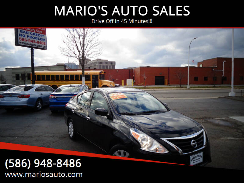 2019 Nissan Versa for sale at MARIO'S AUTO SALES in Mount Clemens MI