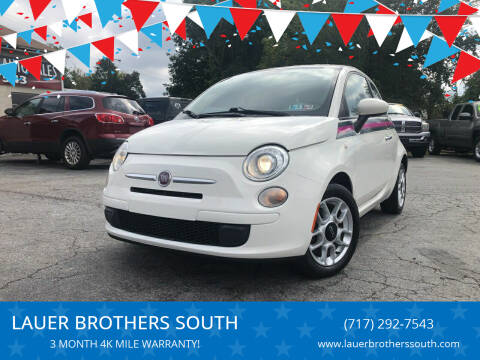 2012 FIAT 500 for sale at LAUER BROTHERS SOUTH in York PA