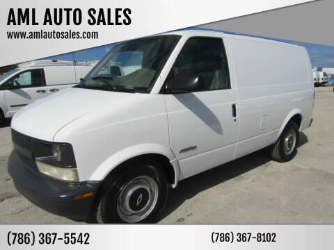 1998 Chevrolet Astro Cargo for sale at AML AUTO SALES - Cargo Vans in Opa-Locka FL