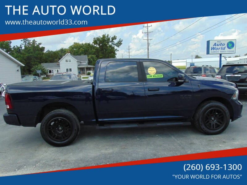 2014 RAM Ram Pickup 1500 for sale at THE AUTO WORLD in Churubusco IN