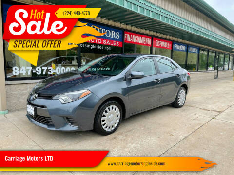 2016 Toyota Corolla for sale at Carriage Motors LTD in Ingleside IL