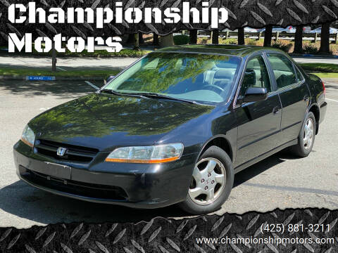 1999 Honda Accord for sale at Championship Motors in Redmond WA