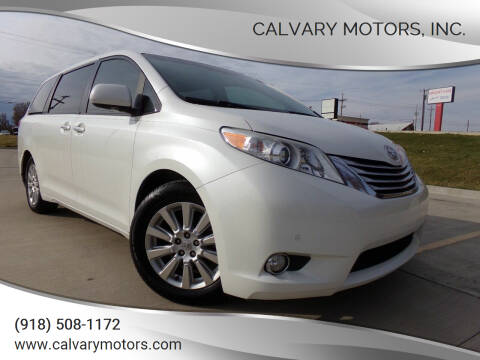 2011 Toyota Sienna for sale at Calvary Motors, Inc. in Bixby OK