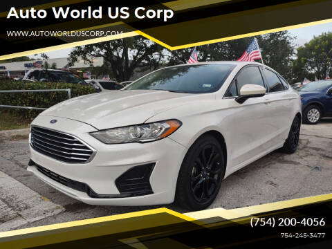 2019 Ford Fusion for sale at Auto World US Corp in Plantation FL