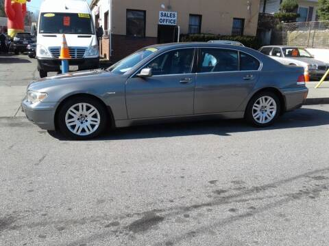 2002 BMW 7 Series for sale at Nelsons Auto Specialists in New Bedford MA