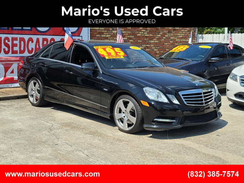 2012 Mercedes-Benz E-Class for sale at Mario's Used Cars - South Houston Location in South Houston TX
