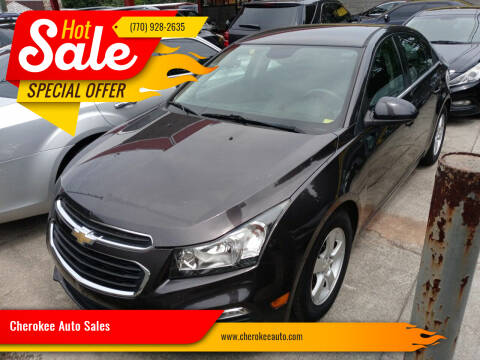 2016 Chevrolet Cruze Limited for sale at Cherokee Auto Sales in Acworth GA