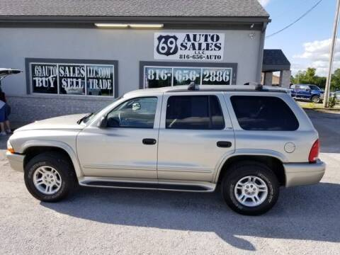 2002 Dodge Durango for sale at 69 Auto Sales LLC in Excelsior Springs MO