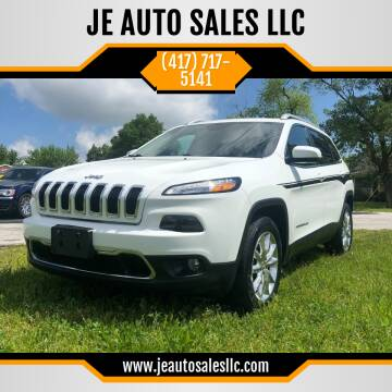 2016 Jeep Cherokee for sale at JE AUTO SALES LLC in Webb City MO