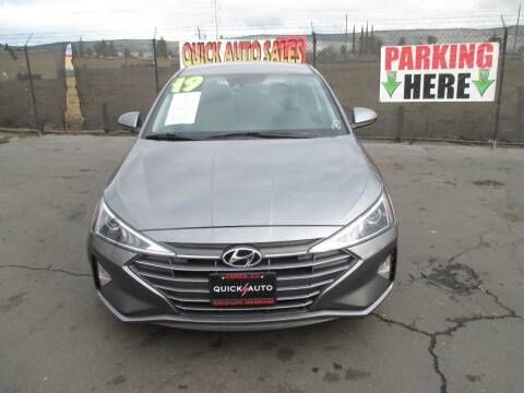 2019 Hyundai Elantra for sale at Quick Auto Sales in Modesto CA