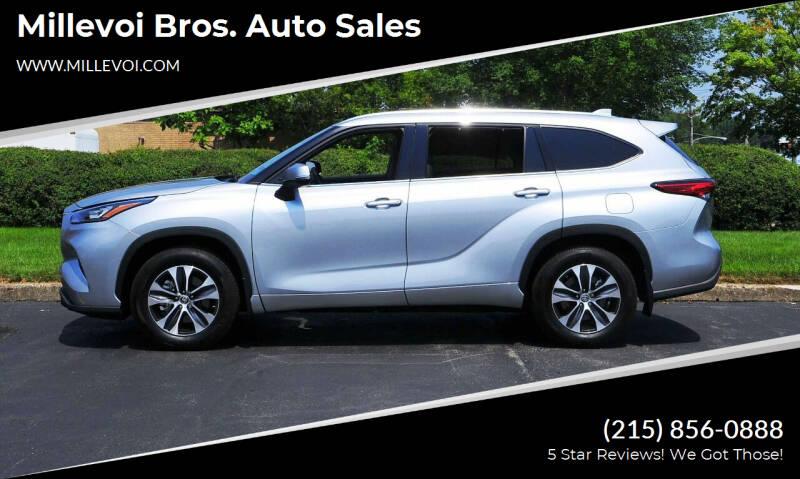 2020 Toyota Highlander for sale at Millevoi Bros. Auto Sales in Philadelphia PA