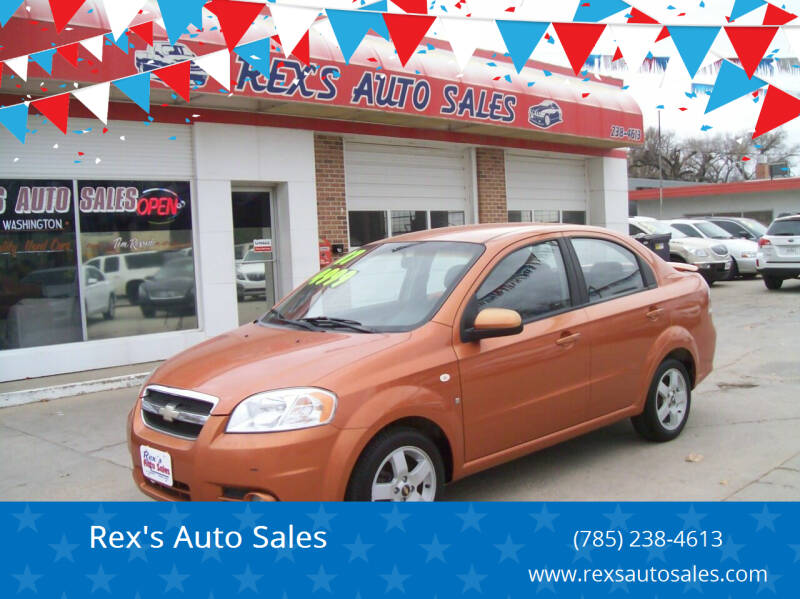 2007 Chevrolet Aveo for sale at Rex's Auto Sales in Junction City KS
