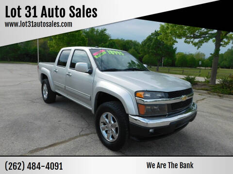 2012 Chevrolet Colorado for sale at Lot 31 Auto Sales in Kenosha WI