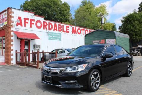 2016 Honda Accord for sale at AFFORDABLE MOTORS INC in Winston Salem NC