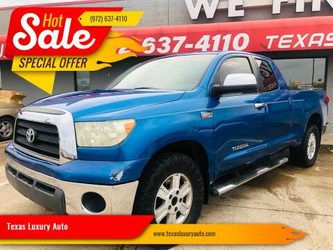 2007 Toyota Tundra for sale at Texas Luxury Auto in Cedar Hill TX