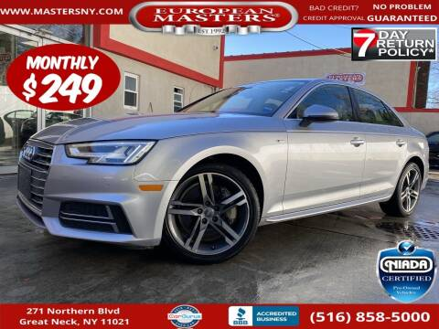 2018 Audi A4 for sale at European Masters in Great Neck NY
