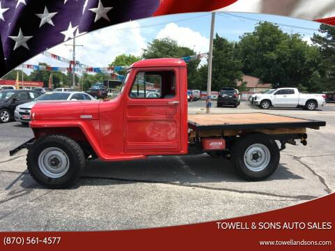 1949 Jeep Willys for sale at Towell & Sons Auto Sales in Manila AR
