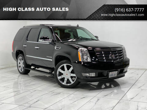 2012 Cadillac Escalade for sale at HIGH CLASS AUTO SALES in Rancho Cordova CA