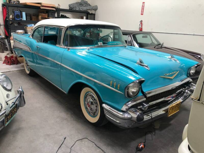 1957 Chevrolet Bel Air for sale at HIGH-LINE MOTOR SPORTS in Brea CA