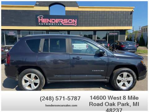 2014 Jeep Compass for sale at Henderson Automotive, LLC in Oak Park MI