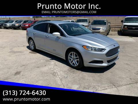 2013 Ford Fusion for sale at Prunto Motor Inc. in Dearborn MI